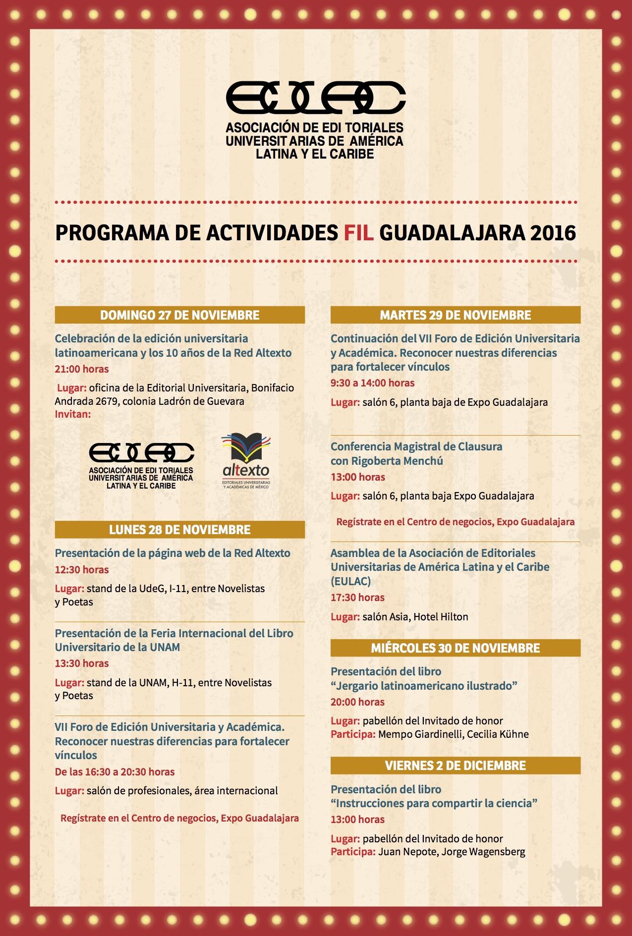 Actividades EULAC FIL 2016