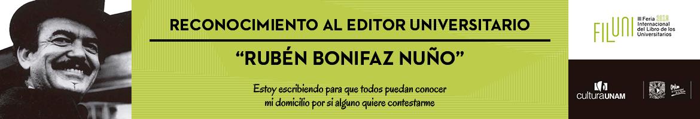 Reconocimiento al Editor Universitario «Rubén Bonifaz Nuño» 2019