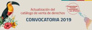 Actualización del catálogo de venta de derechos. Convocatoria 2019